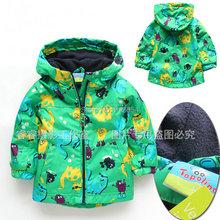 new 2014 baby clothing spring autumn kids jackets child windproof outerwear baby boys dinosaur cardigan coat(China (Mainland))