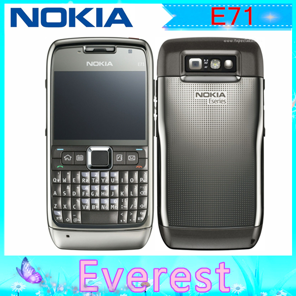 Original E71 Original Nokia E71 GPS WIFI Bluetooth JAVA Unlock Cell Phone Refurbished phone one year warranty(China (Mainland))