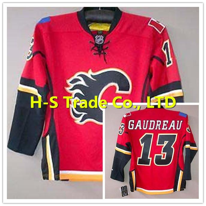 NHL Gaudreau Hockey Jerseys 2015 Calgary Flames #13 Johnny Gaudreau Home Red Stitched (M/48)(L/50)(XL/52)(XXL/54)(XXXL/56)(China (Mainland))