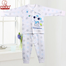 Amazing Spring Autumn Korean Style Cartoon Cotton Newborn Baby Girls Boys Sleep Sets Suits Sleepwear for 0-1 Years Old Infant(China (Mainland))