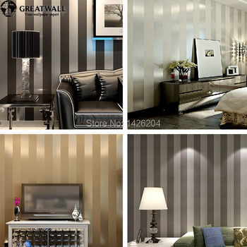 Great wall non woven black white silver gold glitter for Black and silver living room wallpaper