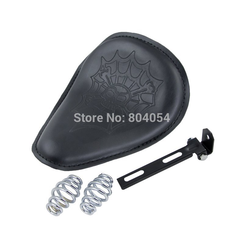 Motorcycle PU Spring Solo Seat For Harley Touring Softail VRSC Dyna Sportster