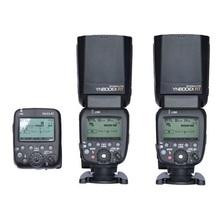 2X YONGNUO YN600EX-RT + YN-E3-RT 2.4G Wireless HSS 1/8000 s Maestro Cámara Speedlite de Destello para PUEDE RT Sistema de Disparo por Radio