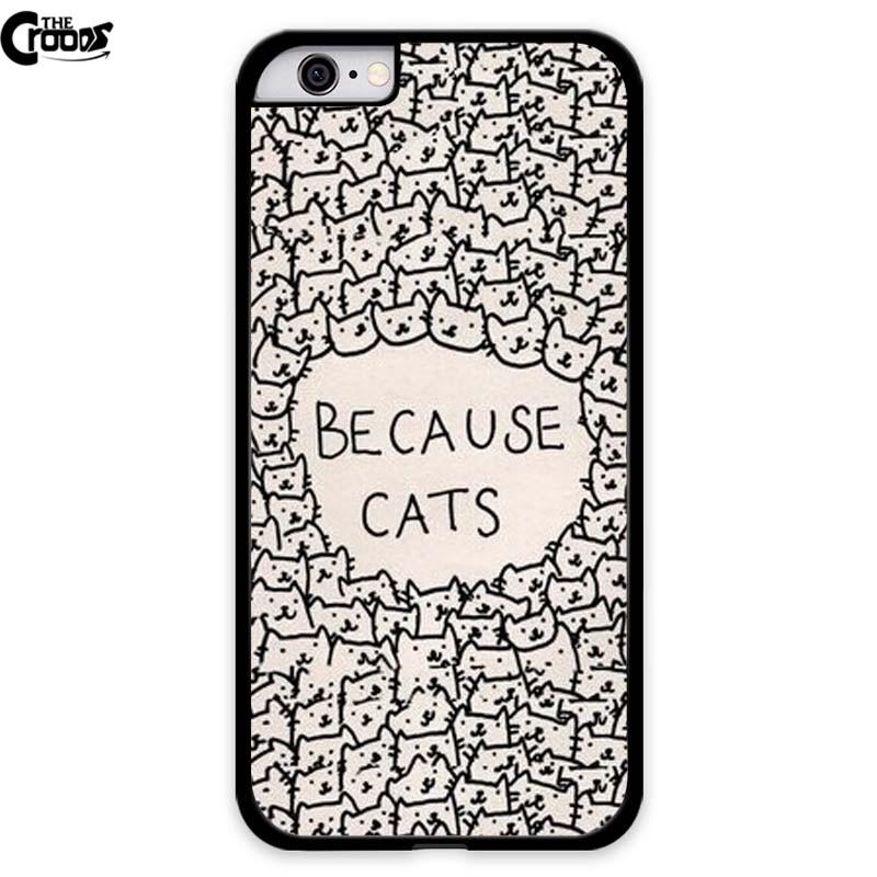 Because Cat Hard Plastic Back font b Mobile b font font b Phone b font font