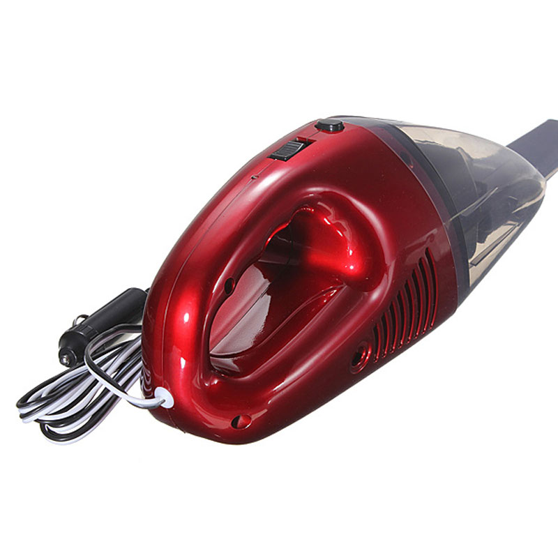 DC12V 60W Mini High Quality Red Car Vacuum Cleaner Portable Handheld High Power Suit for home, office, travel and all vehicles(China (Mainland))