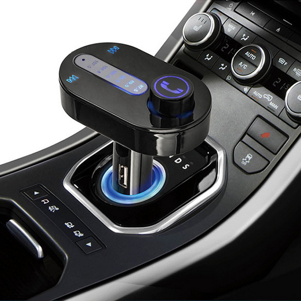 Dependable Fashion Car Kit FM Wireless Bluetooth MP3 Handsfree Transmitter USB SD MP3 Player Ma12(China (Mainland))
