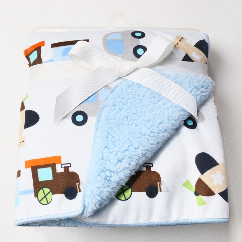 Baby blanket plush coral fleece infant swaddle bebe stroller nap wrap 76x102cm for newborns bedding kids blanket super soft(China (Mainland))