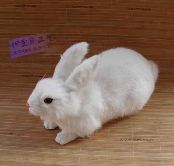 big new simulation rabbit toy polyethylene &amp; furs white rabbit doll gift about 36x15x22cm<br><br>Aliexpress