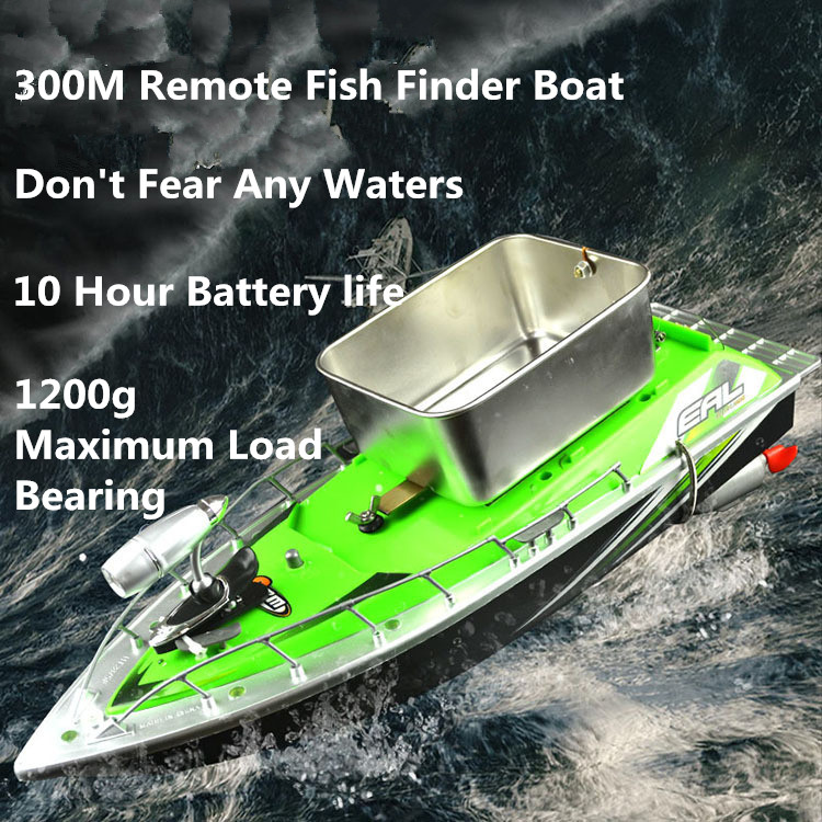 2015 mini rc remote control fishing bait boat 300m remote for Rc boats fishing