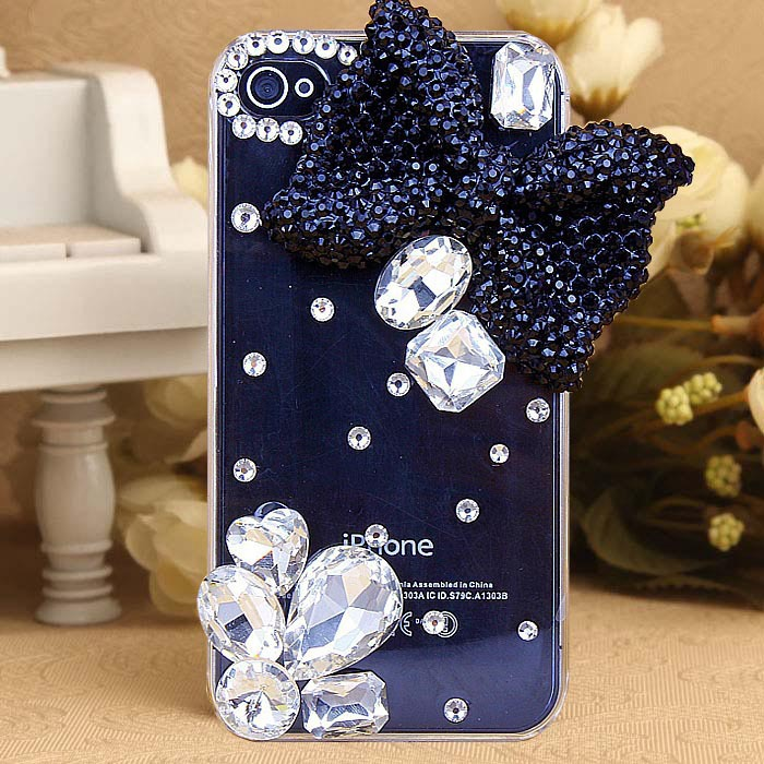 daimond rhinestone bowknot protective case shell cover For Apple iphone 5 5s case cell mobile phone Case(China (Mainland))