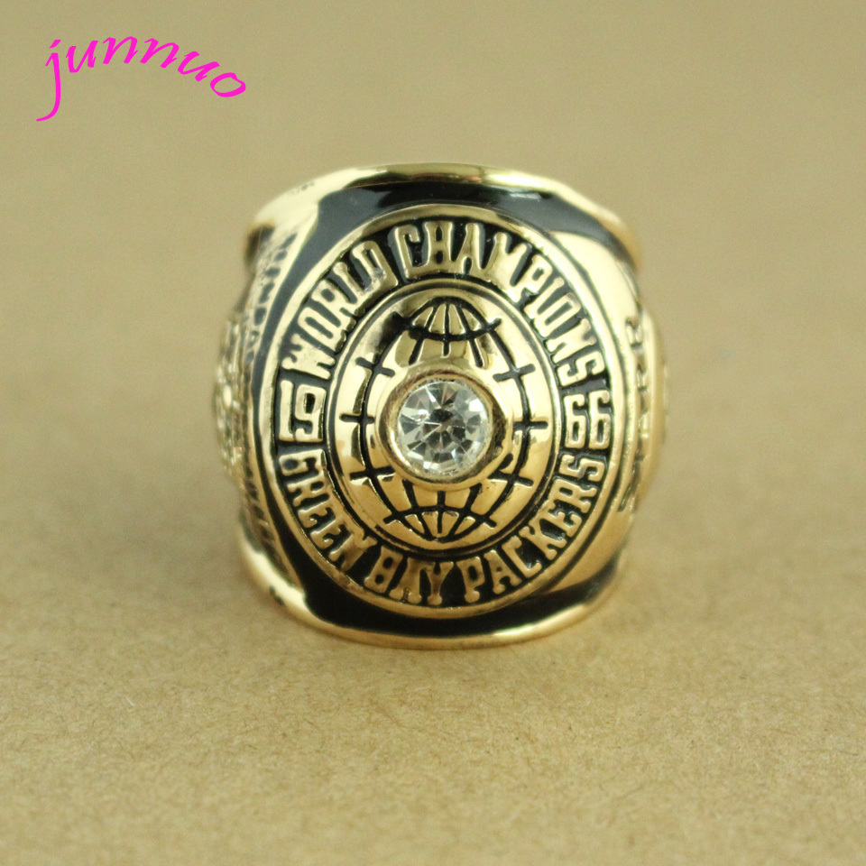 Exquisite gift fashion sport Jewelry 1966 Super Bowl I Green Bay Packers Championship Ring custom big size 11(China (Mainland))