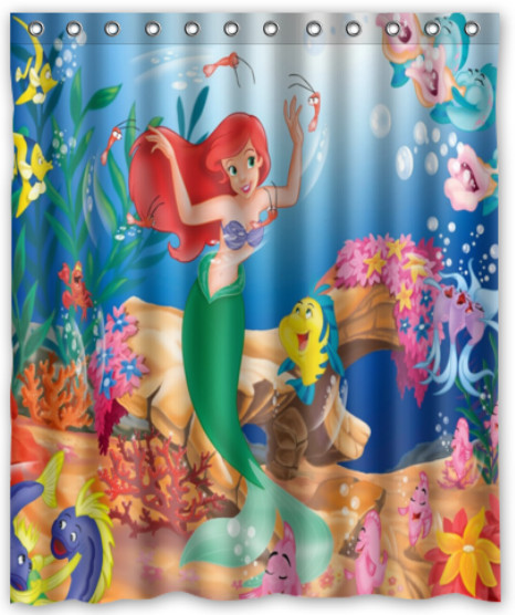 Cortinas De Baño Quality:Little Mermaid Shower Curtain