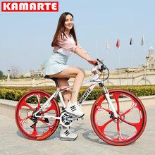 Велосипед Взрослый шок горный велосипед двойной дисковый тормоз интегрированный кросс-кантри переменной скорости велосипед Новое поступл...(China)