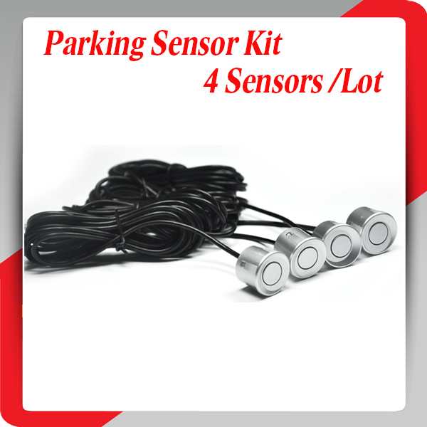 Cheapest 4 Pieces White Sensors Parking Sensor 22mm Monitor System Reversing Radar Car Reverse Probe 10 colors kit(China (Mainland))