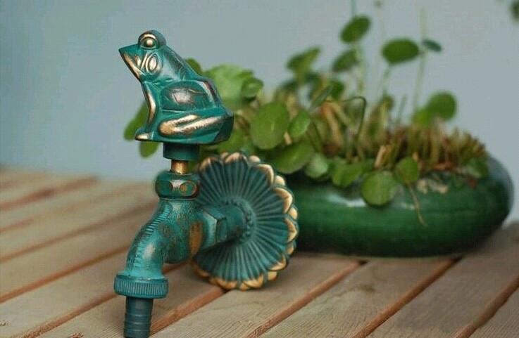 Купить Декоративные открытый кран сельских форма животное сад bibcock антикварной бронзы Frog кран для стиральной шваброй Бесплатная Доставка НОВЫЙ