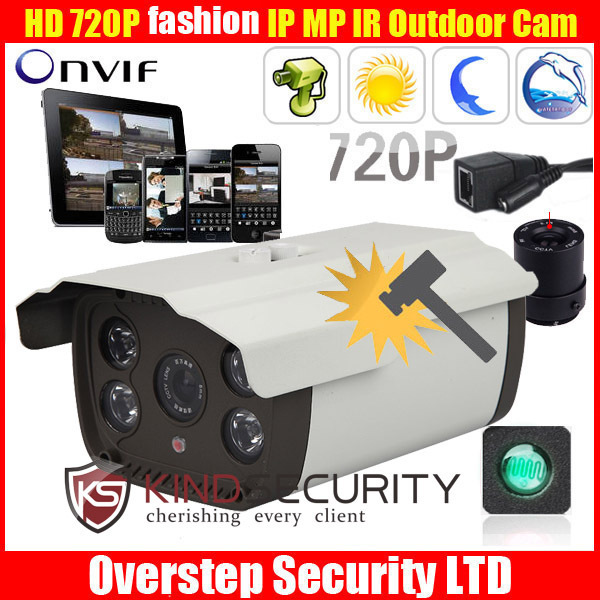 Cheapest HD720P bullet Outdoor Waterproof Home network CCTV Security IP camera with 2MP 6mm lens 4 Array Leds 90M Night Vision(China (Mainland))