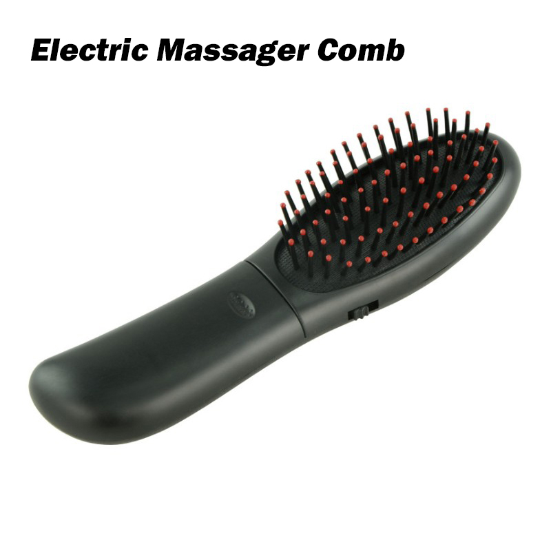 New electric head massager comb head massager electric massage vibrator airbag cushion comb(China (Mainland))