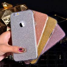 New Luxury Glitter Powder Ultra Thin Soft TPU Phone Back Cover Phone Case For Iphone 5 5S 6 6S 6Plus 6SPlus YC1289