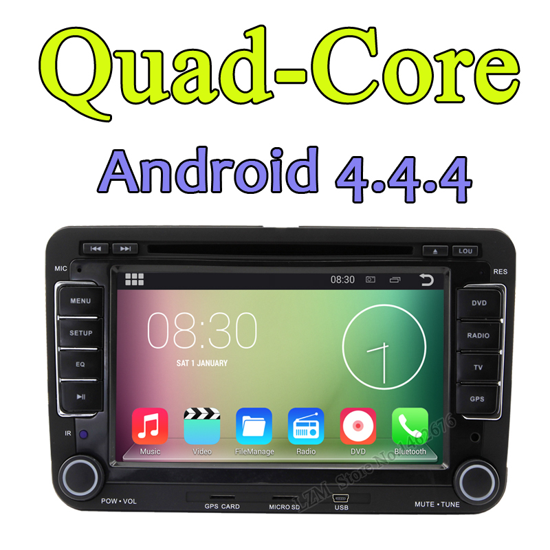 Android 4.4.4 Cortex A9 quad-core Car DVD Player with built in DVB-T Digital TV GPS wifi&3G For Volkswagen Golf Passat Polo Seat(China (Mainland))