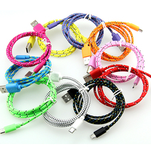 Buy 50Pcs/lot 1M 2M 3M Fabric Nylon Braided Micro USB Cable for Samsung For Blackberry for HTC Cloth braided cable for $34.00 in AliExpress store