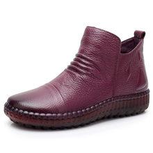 MVVJKE Mode Herfst Platte Laarzen Echt Leder Enkel Schoenen Vintage Casual Schoenen Brand Design Retro Handgemaakte Vrouwen Boot E006(China)