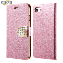 Buy KISSCASE 5S 6S Plus Glitter Diamond Case iPhone 7 7 Plus iPhone 5 5S SE 6 6S 6 Plus Wallet Sand Leather Card Slot Cover for $3.99 in AliExpress store