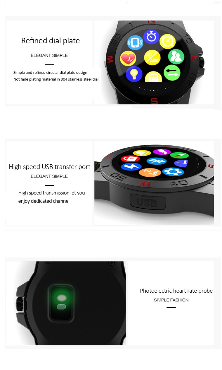 High End IP67 Waterproof Sports Fit Smart Watch Phone F2 Round Smart Watch Bluetooth 4.0 260mah Battery Heart Rate+Temperature