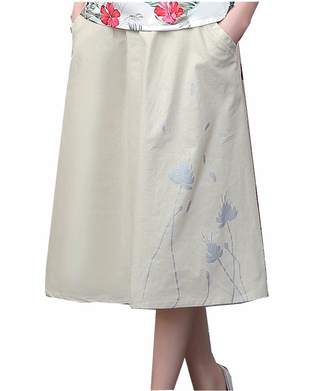 free shipping linen skirt summer skirts