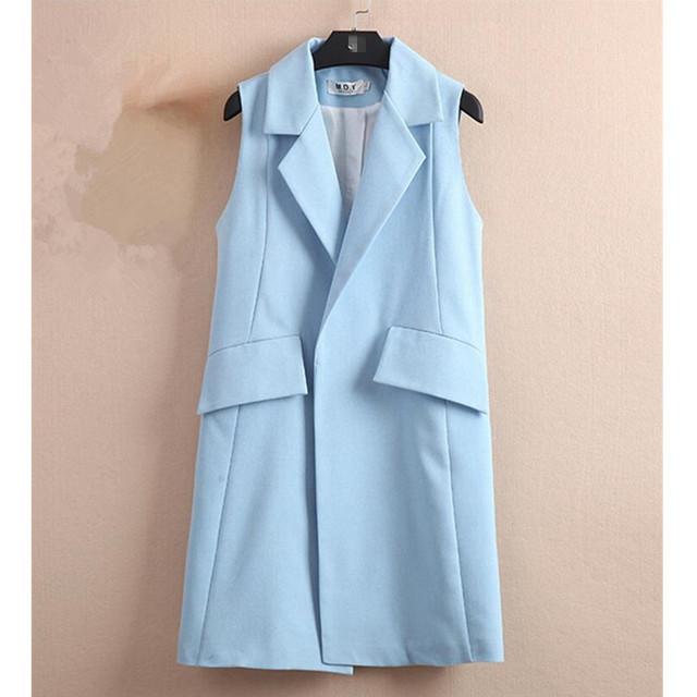 Женщины жилеты 2016 лето мода жилет женский куртки и пальто дамы свободную одежду ...