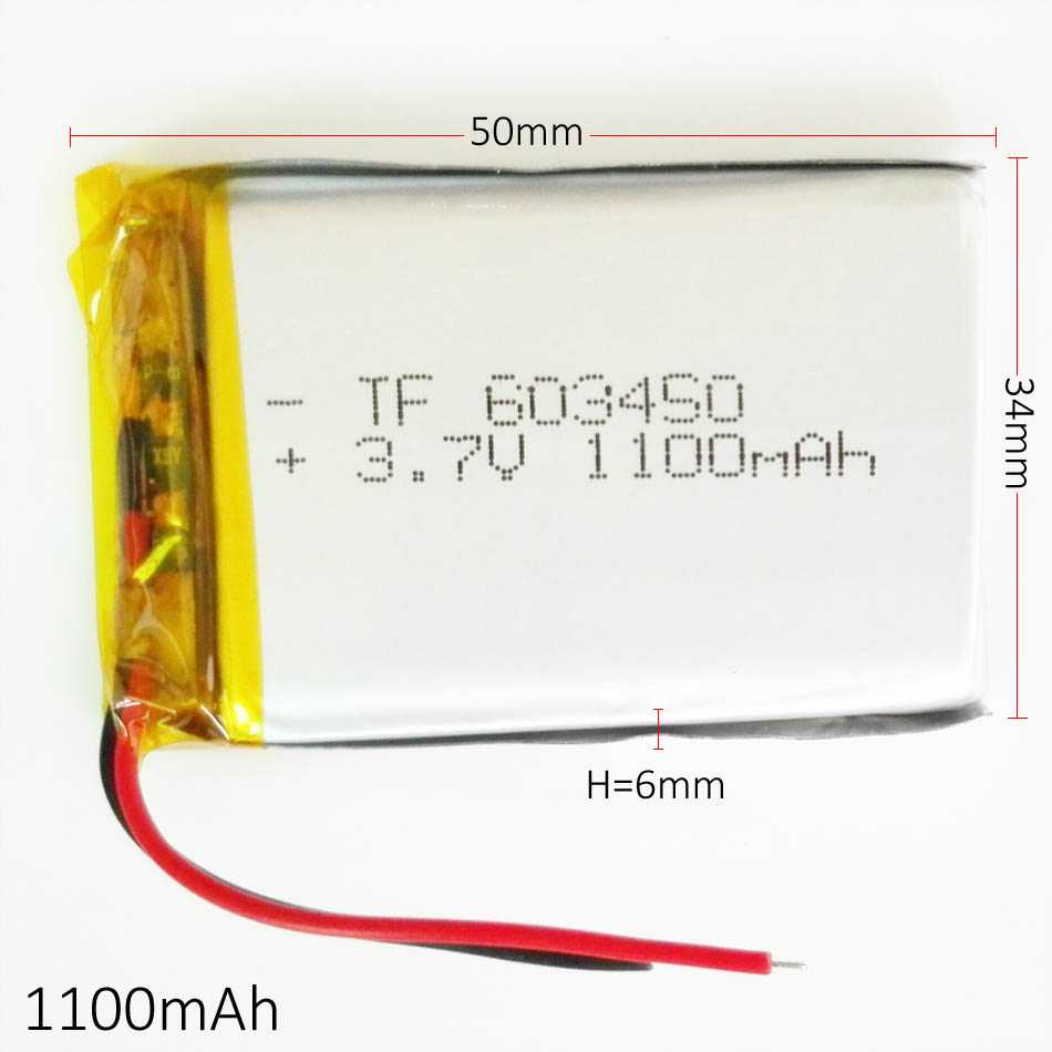 3.7V 1200mah 603450 Lithium Polymer Li-Po Rechargeable Battery For MP4 MP5 GPS PSP DVD mobile video game PAD E-books tablet PC<br><br>Aliexpress
