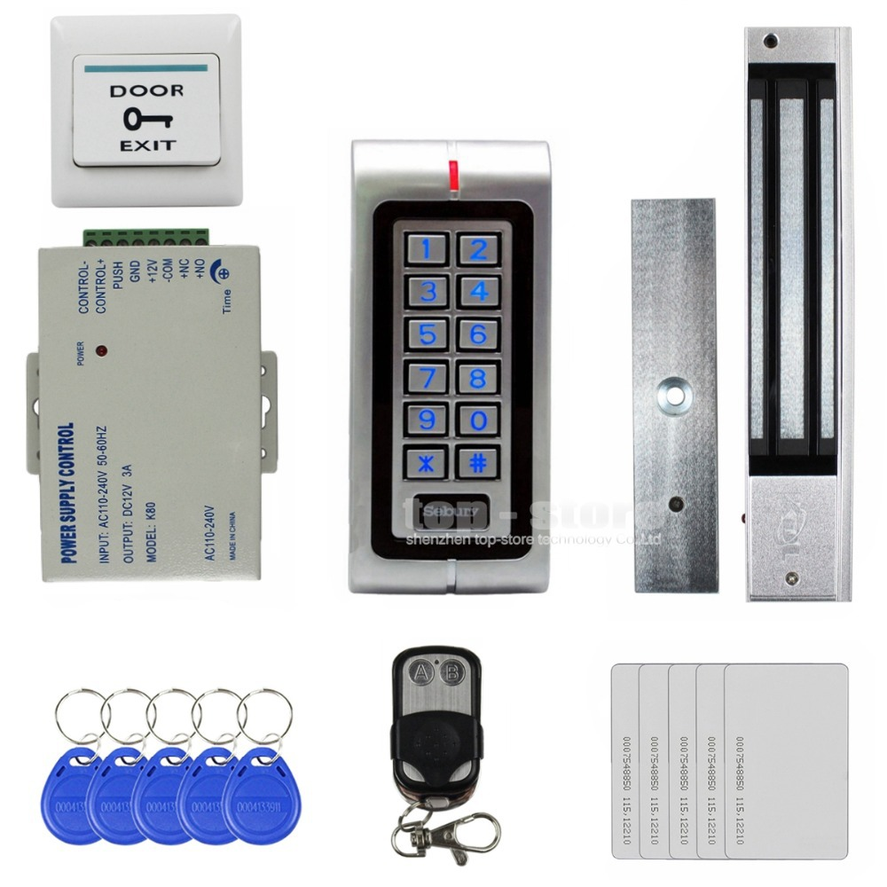 DIY 125KHz RFID Waterproof Metal Password Keypad Door Access Control System Kit + 280KG Waterproof Magnetic Lock W1(China (Mainland))