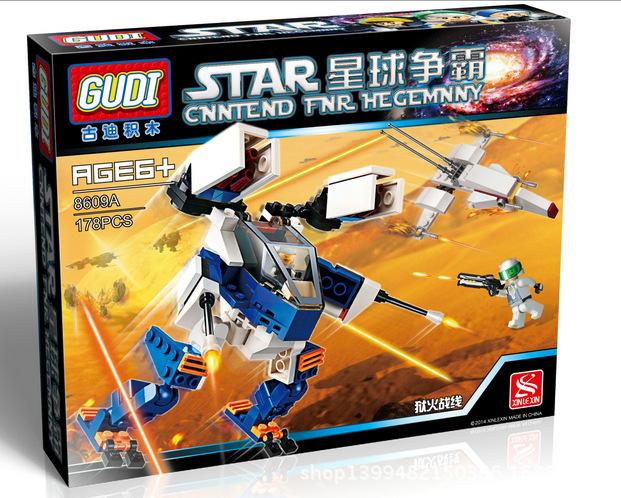 GUDI 8609A Star Wars Earth Border Hellfire Minifigure Building Block 178Pcs Bricks Toys Compatible With Lego<br><br>Aliexpress