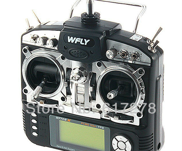 2013 WFLY WFT08X 2.4G 9CH With WFR09 Receiver WFT08 Upgrades For RC Hleicopter  Airplane Boat Car Low Shipping