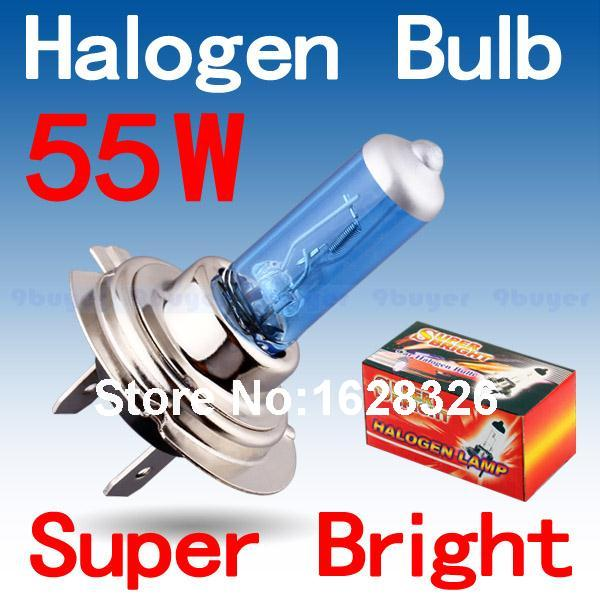 H7 55W 12V Halogen Bulb Super Xenon White Fog Lights High Power Car Headlight Lamp Car Light Source parking 6000K auto(China (Mainland))