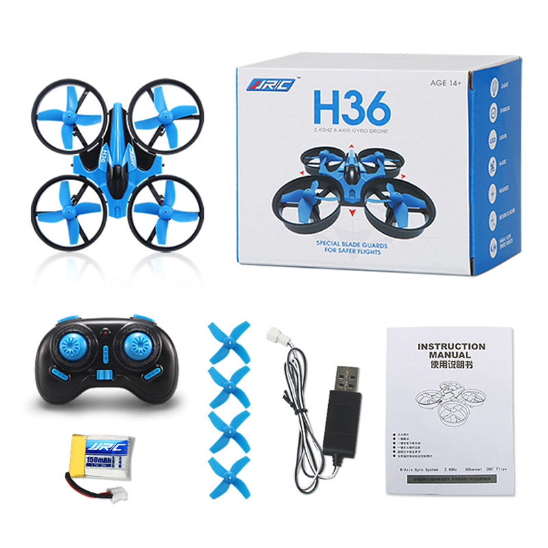 JJRC H36 Mini Drone 4CH 6 Axis Gyro RC Quadcopter with Headless Mode/Speed Switch One Key Return Function RTF LED Light Dron(China (Mainland))