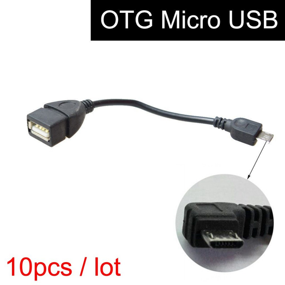 10 Pcs Micro USB OTG Cable for Car GPS Navigation System, V8 Android Smart Phone Samsung HTC Memory Stick U-Disk Data Connection(China (Mainland))