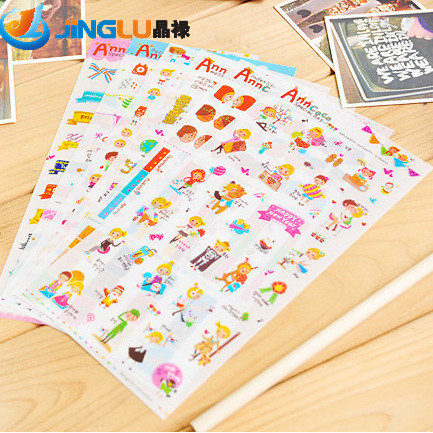 1 Pc / Packcute Stationery Youfan Anncoco Transparentkawaii Planner Stickers/sticker Note/message Sticker/funny 6 Into<br><br>Aliexpress