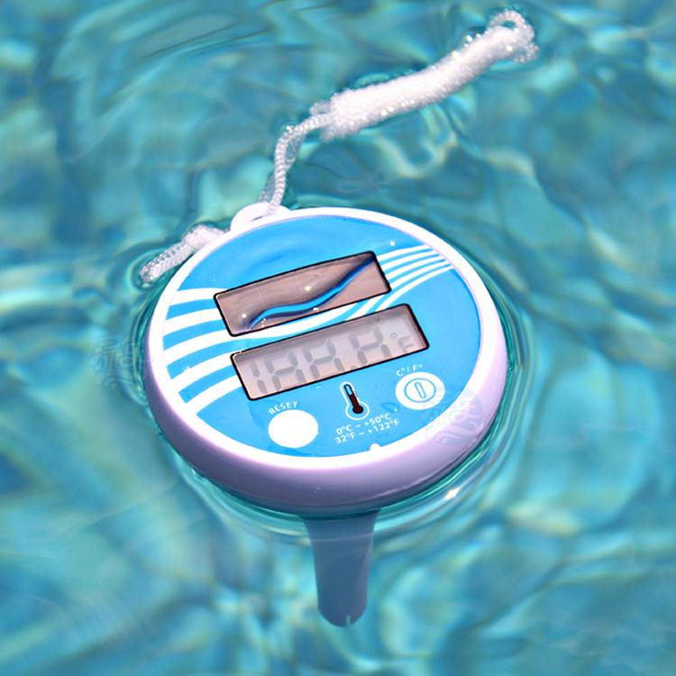Solar Powered Floating Pond Thermometer For Swimming Pool In Temperature Gauges From Home