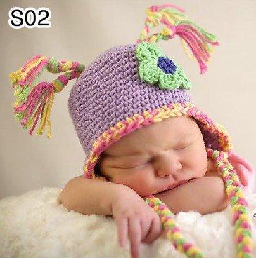 30pcs-lot-0-6Month-newborn-cap-crochet-baby-hat-children ...