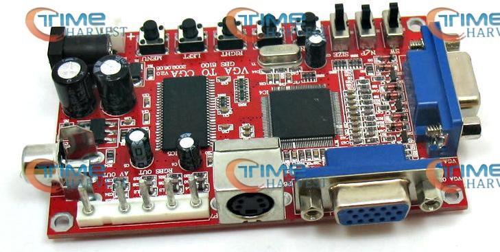 3pcs VGA TO CGA 5 PINS RGBS/CVBS/S-VIDEO CONVERTER BOARD/VIDEO BOARD/CONVERTING/ARCADE MACHINE PARTS/GAME MACHINE ACCESSORY(China (Mainland))
