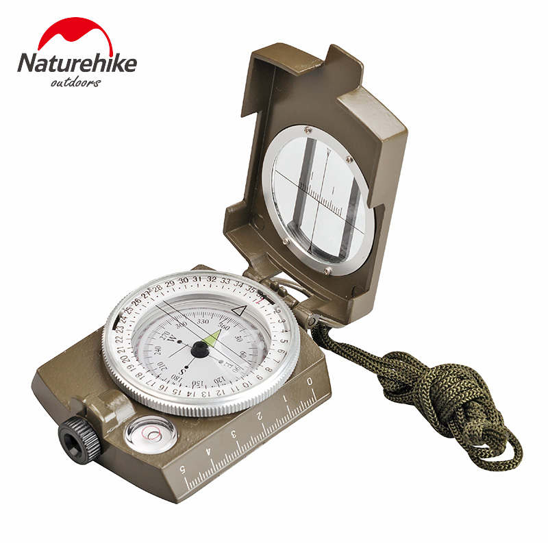NatureHike Multifunctional Lens Digital Geological American Compass Marine Outdoor Camping Military Sports Navigator Equipment(China (Mainland))
