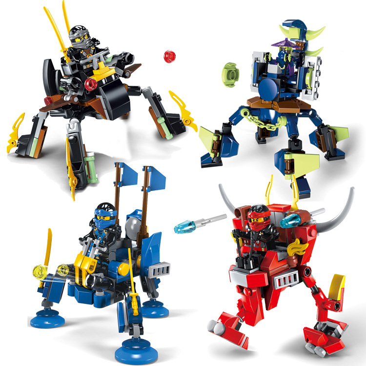 4Pcs Ninjagoed Marvel Ninja Building Block Action Figure Model Kits Brick Toys Minifigures Ninjagoed Compatible Legoe magformers