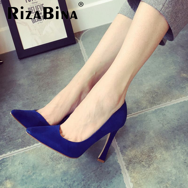 red bottom high heel shoes woman real genuine leather brand pointed toe heels shoes sexy footwear heeled shoes size 34-41 R08569<br><br>Aliexpress