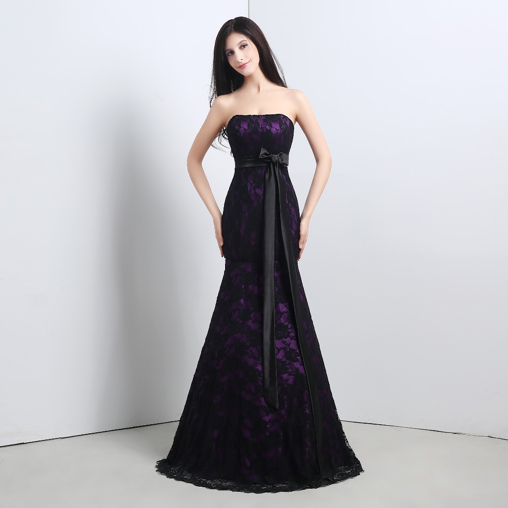 Popular Black Strapless Satin Dress-Buy Cheap Black Strapless ...