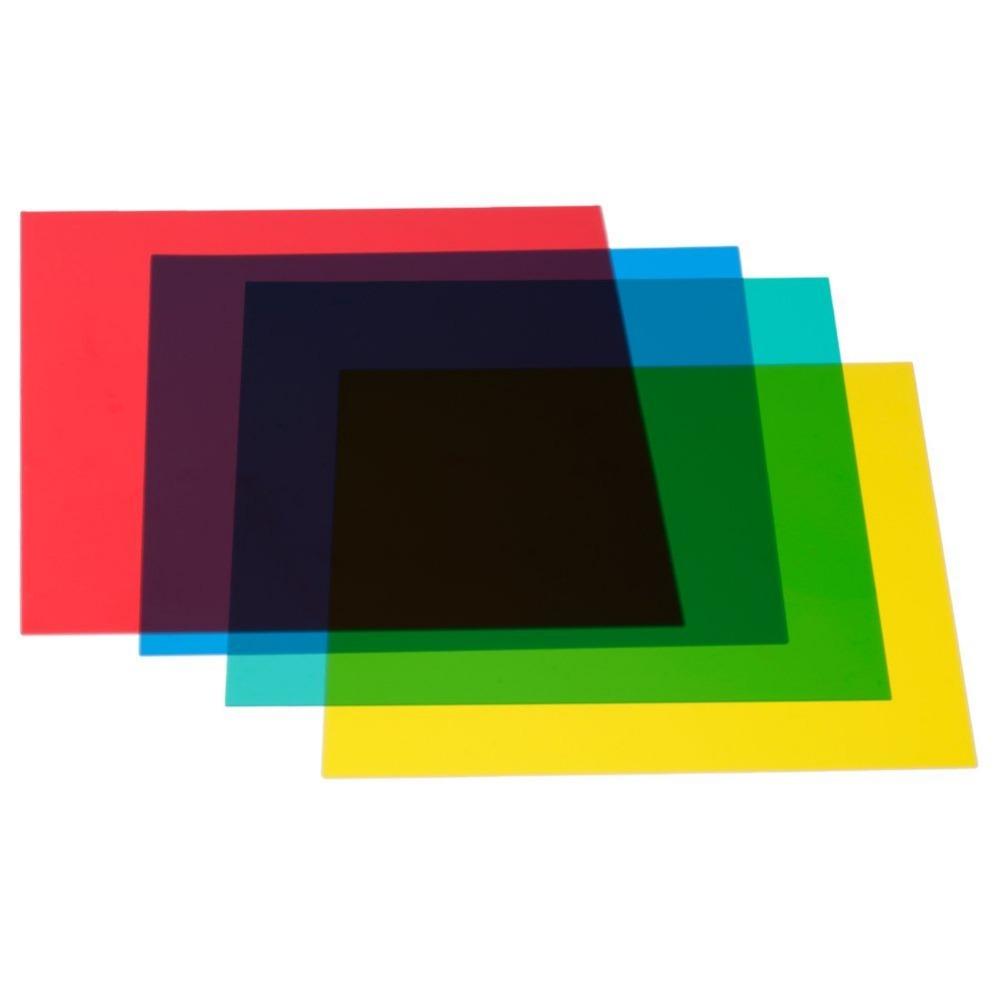 """Neewer 12""""x 12""""/30 x 30cm Color Correction Gels Set 4-Color Gel Filter Film Gel Sheet for Video Light Studio Flash Strobe(China (Mainland))"""