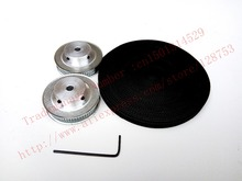 2 pieces 60 teeth GT2 Timing Pulley Bore 5mm + 5 Meters timing Belt Width 6mm 2GT 3D CNC machine factory outlet - Cixi Torbo Synchronous Co., Ltd. store