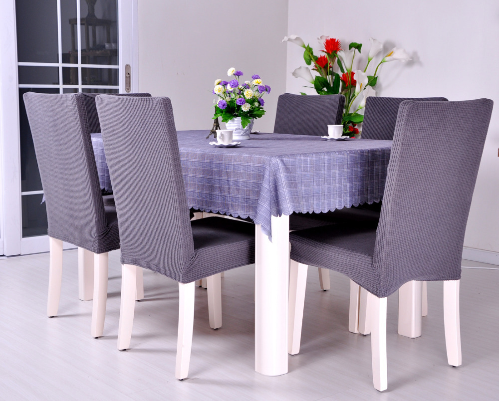 Dining room jacquard oil proof poyester spandex fabric for Dining room chair covers