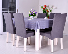 Dining Room Jacquard Oil-proof Poyester Spandex Fabric Chair Covers Anti Mite AntiFouling Chair Slipcover Cadeira Covers 4-Piece(China (Mainland))