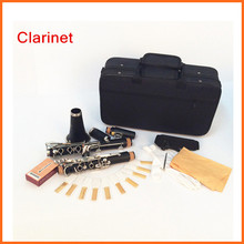 Bakelite Clarinet 17 Key Bb Flat Soprano Nickel Plating Exquisite with Cork Grease Cleaning Cloth Gloves Woodwind Instruments(China (Mainland))