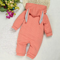 2016 Autumn Winter baby boys clothes Newborn Animal Rabbit thick thin baby Jumpsuit Children Outerwear Baby
